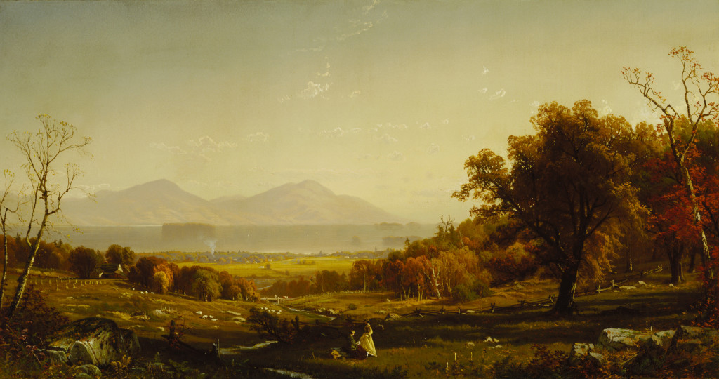 Alfred Thompson Bricher, Lake George from Bolton's Landing, 1867, oil on canvas, 27 x 50 1/4in. (68.6 x 127.6cm), Terra Foundation for American Art, Daniel J. Terra Collection, 1992.17