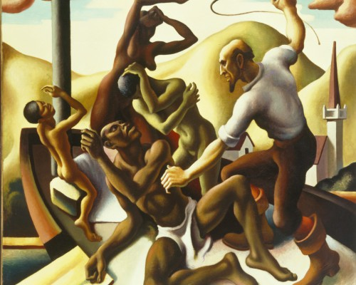 Thomas Hart Benton, Slaves, 1925, oil on cotton duck mounted on board, 66 7/16 x 72 3/8 x 1 7/16in. (168.8 x 183.8 x 3.7cm), Terra Foundation for American Art, Daniel J. Terra Art Acquisition Endowment Fund, 2003.4
