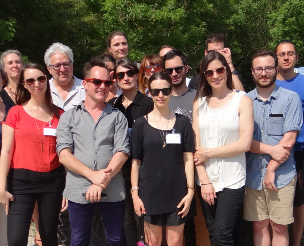 Participants in the 2015 Terra Summer Residency fellowship program, in Giverny, France.