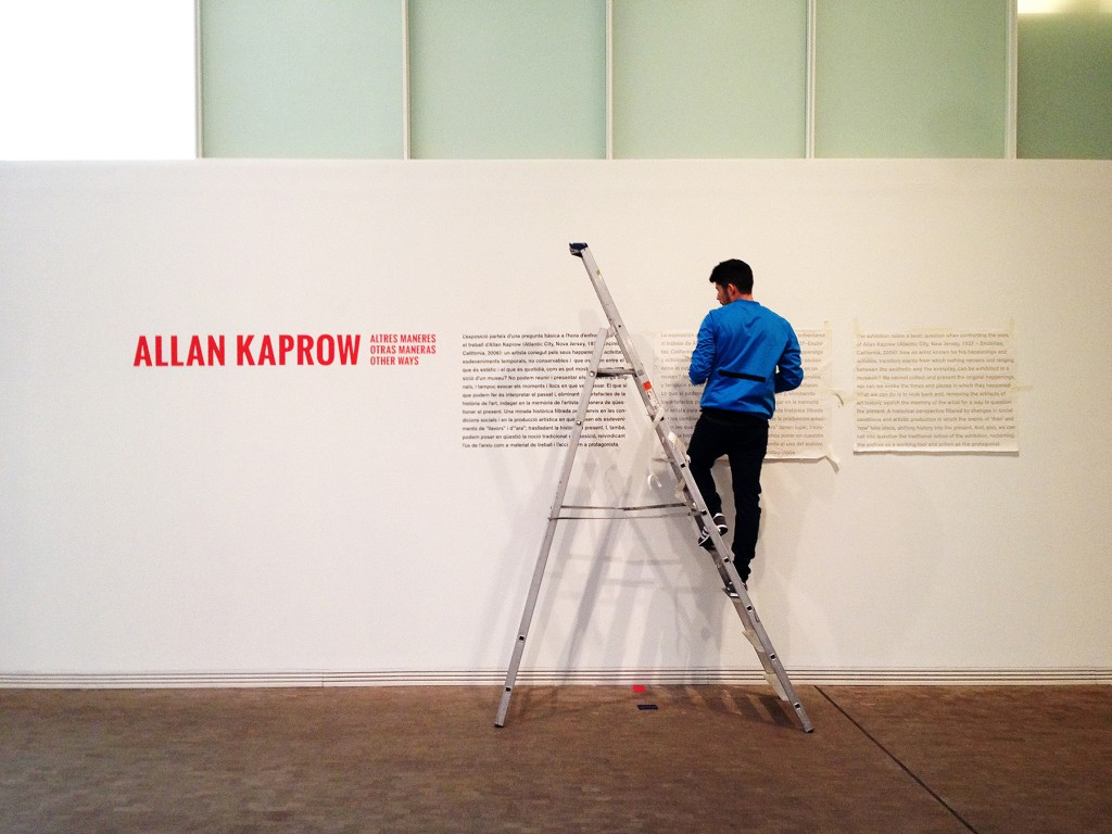 An International Curatorial Travel Grant supported Soledad Gutierrez's travel to Los Angeles to conduct research for the 2014 exhibition Allan Kaprow. Other Ways, at the Fundació Antoni Tàpies in Barcelona.