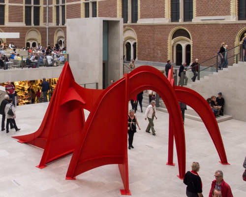 Alexander Calder's monumental sculpture Jerusalem Stabile (1976) was included in the 2014 exhibition Calder at the Rijksmuseum, supported by the Terra Foundation.