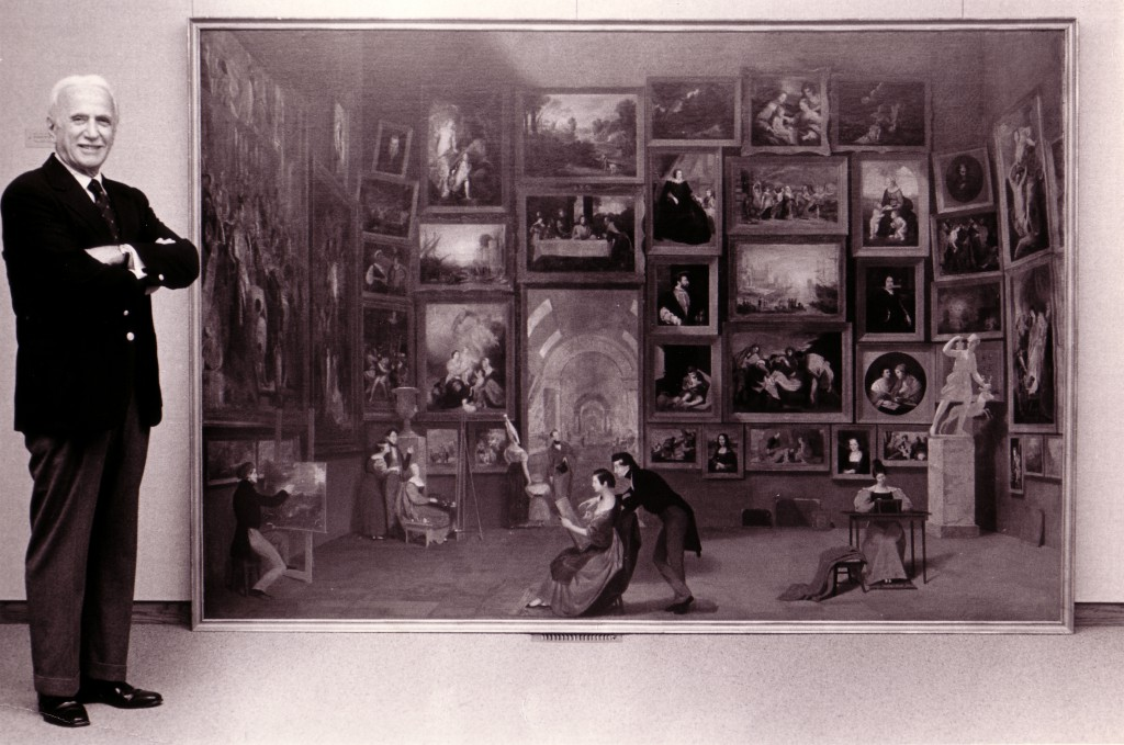 Daniel Terra added Samuel F. B. Morse's iconic painting Gallery of the Louvre (1831–33) to his collection in 1982.