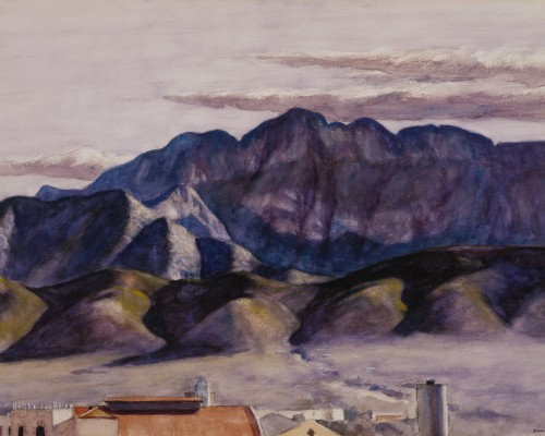 Edward Hopper, Sierra Madre at Monterey, 1943, watercolor with touches of wiping, over a charcoal underdrawing, on heavyweight textured ivory wove watercolor paper, 21 1/4 x 29 3/4 in. (54.0 x 75.6 cm), Terra Foundation for American Art, Daniel J. Terra Collection, 1994.18