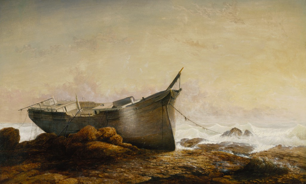 Fitz Henry Lane, Brace's Rock, Brace's Cove, 1864.  Terra Foundation for American Art, Daniel J. Terra Collection, 1999.83