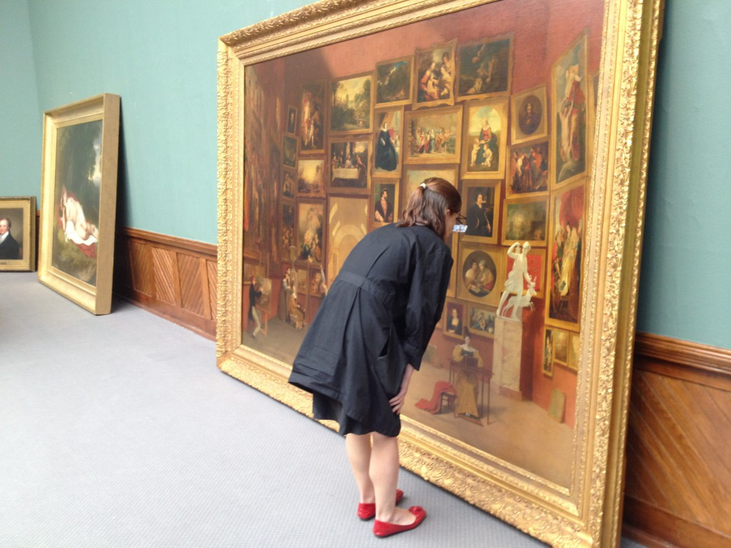 Samuel F. B. Morse's painting Gallery of the Louvre (1831–33) is examined in 2012  at the Pennsylvania Academy of the Fine Arts.
