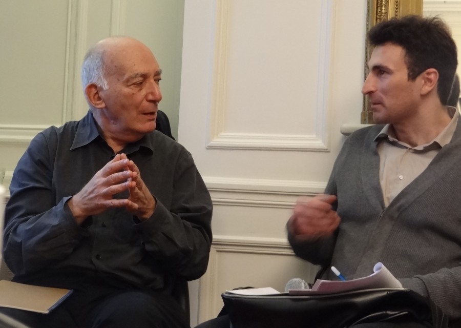 Michael Fried and Cyril Crignon in dialogue at the Terra Foundation Paris Center & Library, November 2014.