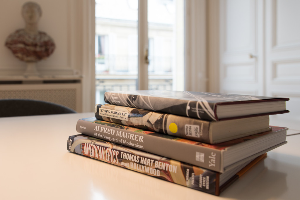 Holdings of the Terra Foundation Library of American Art consist of nearly 10,000 English-language books and catalogs, including rare materials and digital resources, on painting, sculpture, and graphic arts, as well as photography and decorative arts.