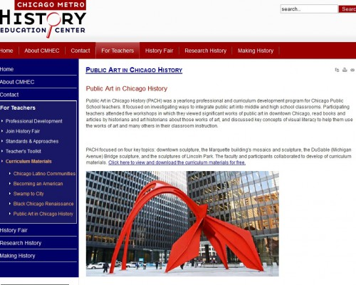 Chicago_Metro_History_Education_Center_Public_Art_in_Chicago_History_screenshot