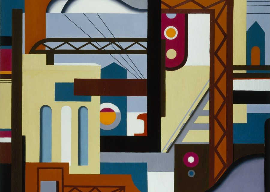George Josimovich, Illinois Central, 1927, oil on canvas,  41 x 46 1/2 in. (104.1 x 118.1 cm),  Terra Foundation for American Art, Daniel J. Terra Art Acquisition Endowment Fund, 2004.1
