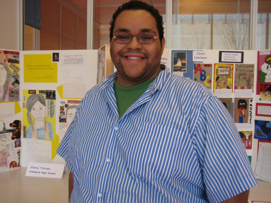 US history teacher Ozni Torres, of Roberto Clemente Community Academy High School in Chicago, participates in the 2011 Terra Teacher Lab.