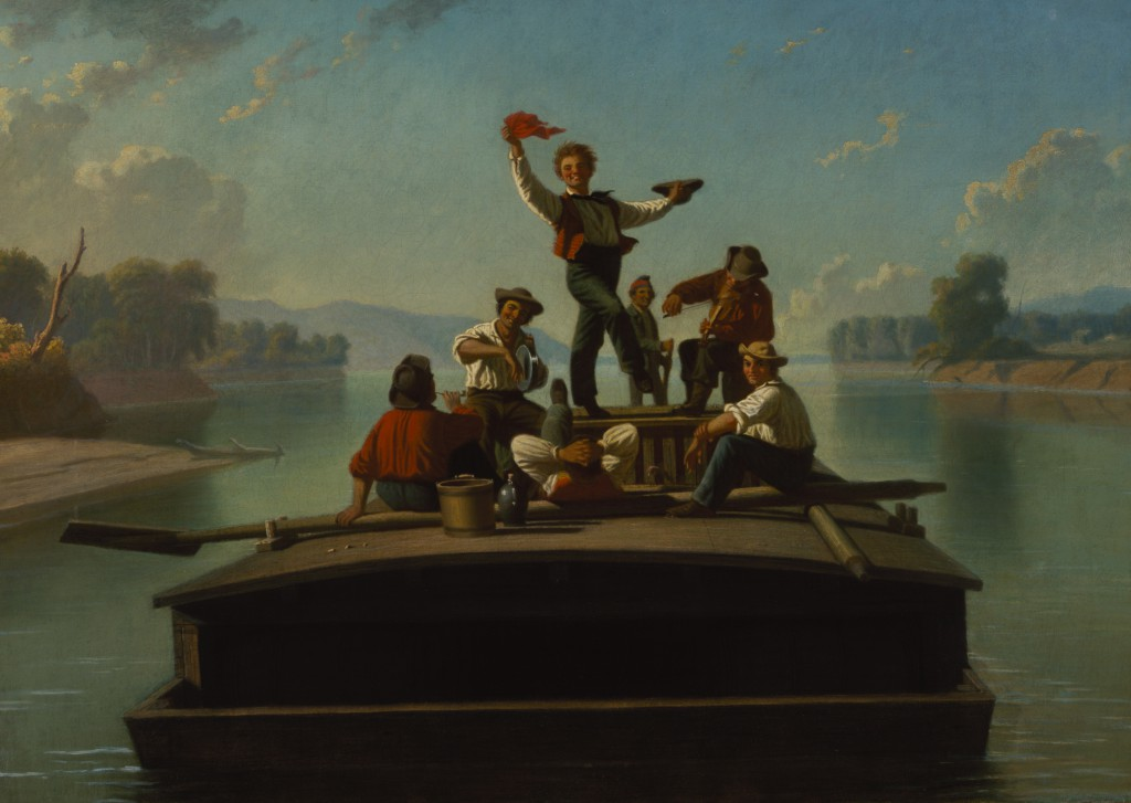 George Caleb Bingham, The Jolly Flatboatmen, 1877–78. Terra Foundation for American Art, Daniel J. Terra Collection, 1992.15