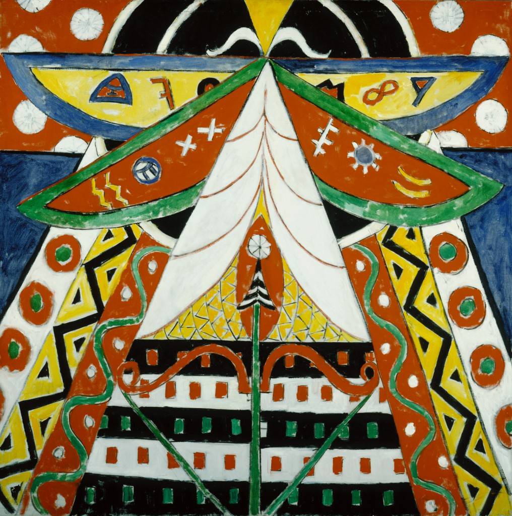 Marsden Hartley, Painting No. 50, 1914–15, oil on canvas, 47 x 47 in. (119.4 x 119.4 cm), Terra Foundation for American Art, Daniel J. Terra Collection, 1999.61