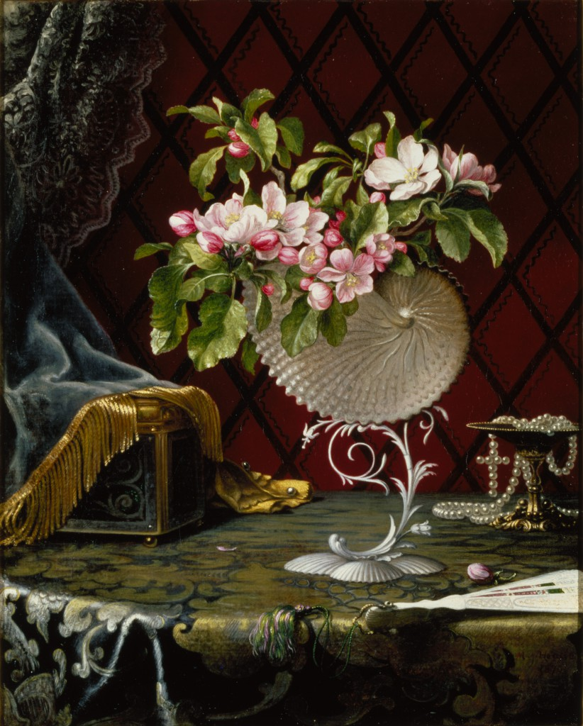 Martin Johnson Heade, Still Life with Apple Blossoms in a Nautilus Shell, 1870, oil on canvas, 21 x 17 in. (53.3 x 43.2 cm), Terra Foundation for American Art, Daniel J. Terra Art Acquisition Endowment Fund, 1999.7