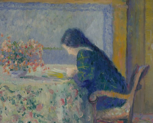 Theodore Earl Butler, Lili Butler Reading at the Butler House, Giverny, 1908. Terra Foundation for American Art, Daniel J. Terra Collection, 1993.8