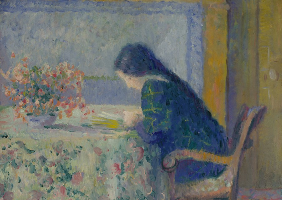 Theodore Earl Butler, Lili Butler Reading at the Butler House, Giverny (detail), 1908. Terra Foundation for American Art, Daniel J. Terra Collection, 1993.8