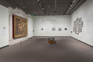 "Installation view of the 2015–2018 Terra Collection Initiative Samuel F. B. Morse's ""Gallery of the Louvre"" and the Art of Invention at the Amon Carter Museum of American Art, Fort Worth, TX. Photo: Steven Watson, Amon Carter Museum of American Art."