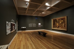 """Installation view of the 2015 Terra Collective Initiative Samuel F. B. Morse's """"Gallery of the Louvre"""" and the Art of Invention at the Huntington Library, Art Collections, and Botanical Gardens, San Marino, CA"""