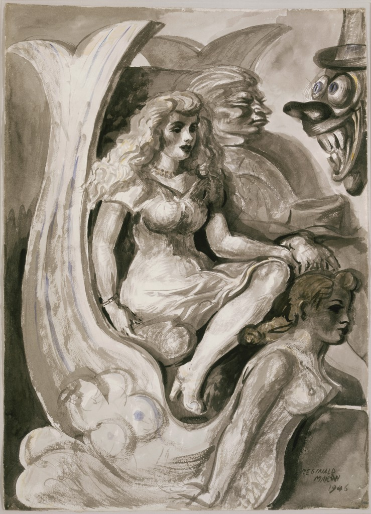 Reginald Marsh, Riders in a Mermaid Tunnel Boat, 1946. Terra Foundation for American Art, Gift of Marjorie and Charles Benton, C1982.7a