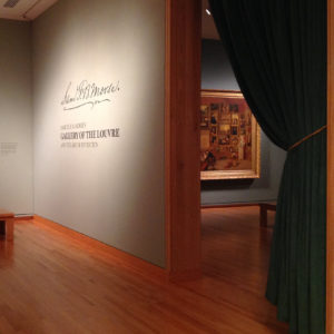 "Installation view of the 2015-2016 Terra Collective Initiative Samuel F. B. Morse's ""Gallery of the Louvre"" and the Art of Invention at the Seattle Art Museum, Seattle, WA."
