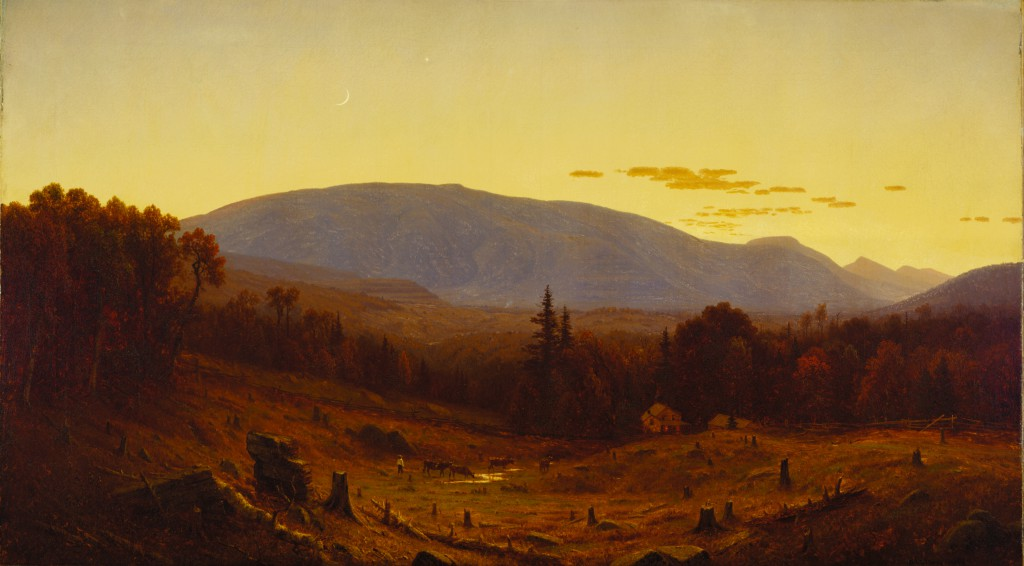 Sanford Robinson Gifford, Hunter Mountain, Twilight, 1866. Terra Foundation for American Art, Daniel J. Terra Collection, 1999.57