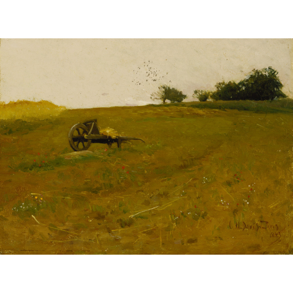 Charles Harold Davis, Champ de blé, 1883, oil on canvas, 10 1/2 x 13 7/8 in. (26.7 x 35.2 cm), Terra Foundation for American Art, Daniel J. Terra Collection, 1992.12