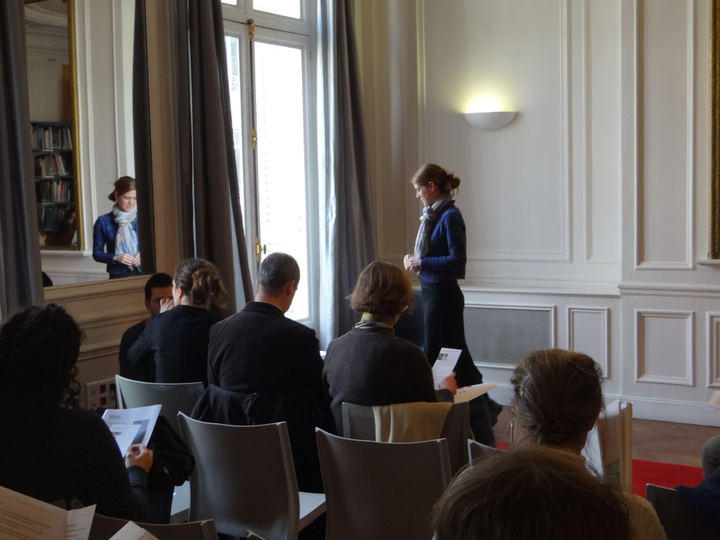 Emily D. Shapiro, executive editor of American Art journal,  lectures at the Terra Foundation Paris Center & Library.