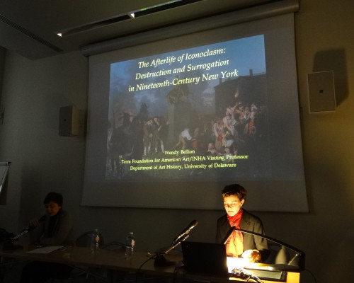 "Wendy Bellion presents ""The Afterlife of Iconoclasm: Destruction and Surrogation in Nineteenth-Century New York"" at the Institut National d'Histoire de l'Art."