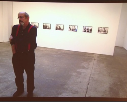 "Visual from the colloquium ""Allan Sekula"" at the Centre Pompidou."