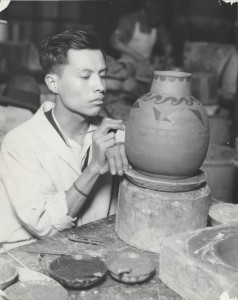 Wallace Kirkland (1892–1979)  Jesus Torres at Hull­House Kilns, 1927 Gelatin silver print 15.5 x 19 in (39.4 x 48.3 cm)  Jane Addams Hull-House Photograph Collections, JAMC_00000299_1036