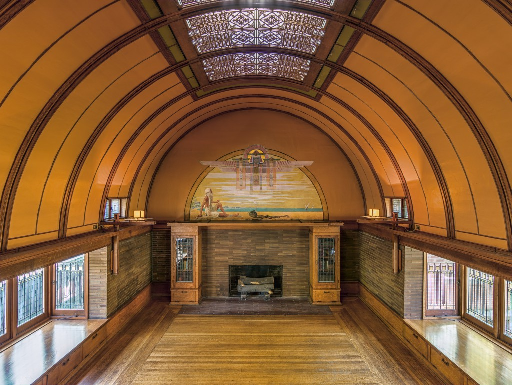 Frank lloyd wright home and studio playroom terra for Wright architect