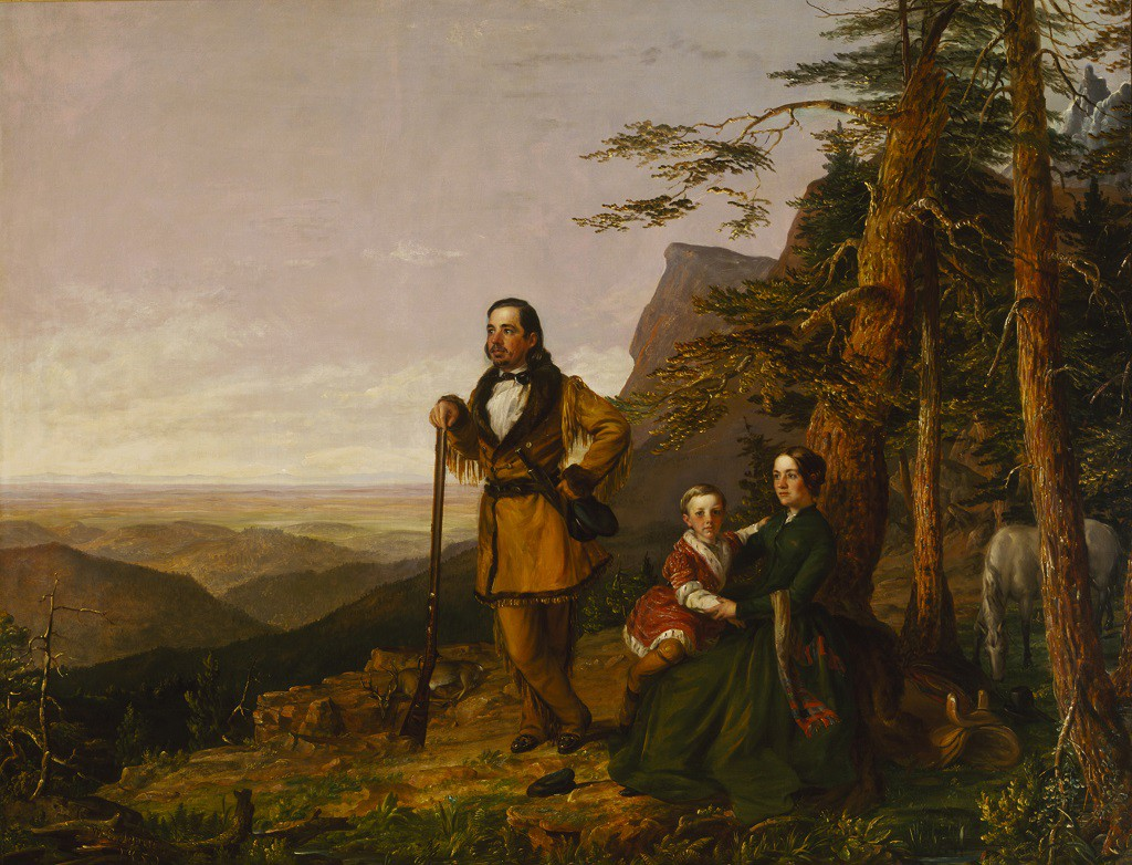William S. Jewett (1821–1873)  The Promised Land - The Grayson Family, 1850 Oil on canvas 50 3/4 x 64 in. (128.9 x 162.6 cm)   Terra Foundation for American Art, Daniel J. Terra Collection, 1999.79