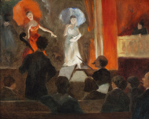 Everett Shinn, Theater Scene, 1903, oil on canvas, 12 3/4 x 15 1/2 in. (32.4 x 39.4 cm), Terra Foundation for American Art, Daniel J. Terra Collection, 1999.136