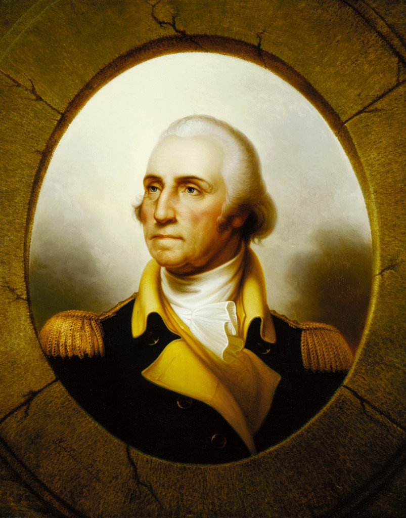Rembrandt Peale, George Washington, Porthole Portrait, after 1824, oil on canvas, 36 1/4 x 29 3/16 in. (92.1 x 74.1 cm),  Terra Foundation for American Art, Daniel J. Terra Collection, 1992.53