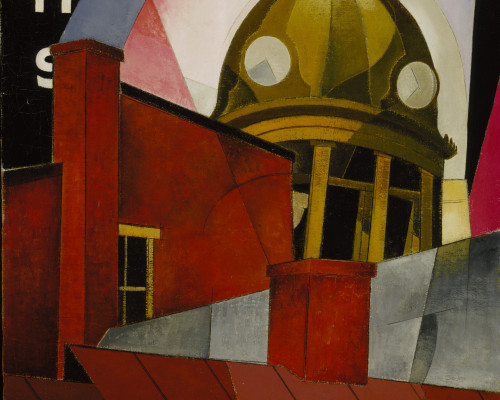 Charles Demuth, Welcome to Our City, 1921, oil on canvas, 25 1/8 x 20 1/8 in. (63.8 x 51.1 cm), Terra Foundation for American Art, Daniel J. Terra Collection, 1993.3