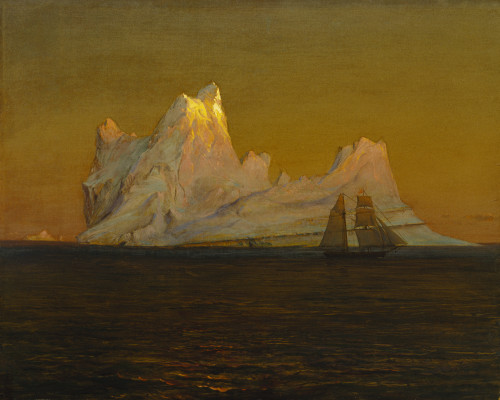 Frederic Edwin Church, The Iceberg, c. 1875, oil on canvas, 22 x 27 in. (55.9 x 68.6cm), Terra Foundation for American Art, Daniel J. Terra Collection, 1993.6