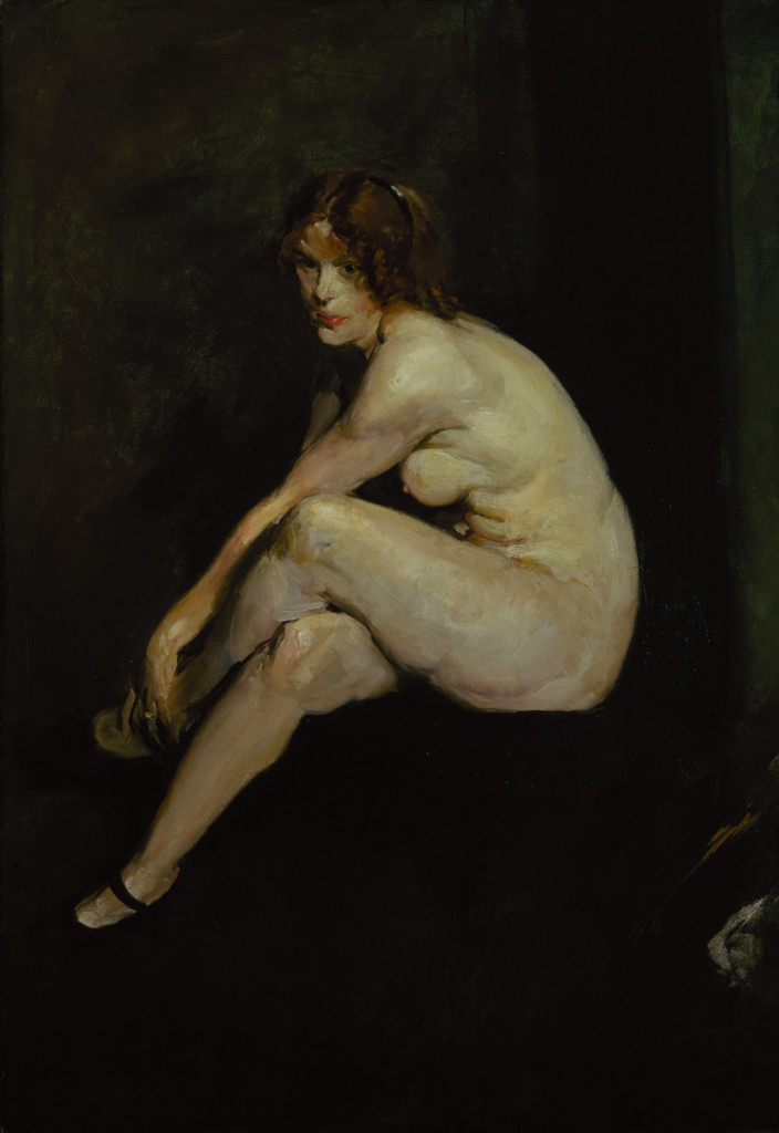 George Bellows, Nude Girl, Miss Leslie Hall, 1909, oil on canvas, 60 x 42 in. (152.4 x 106.7 cm), Terra Foundation for American Art, Daniel J. Terra Art Acquisition Endowment Fund, 1999.5