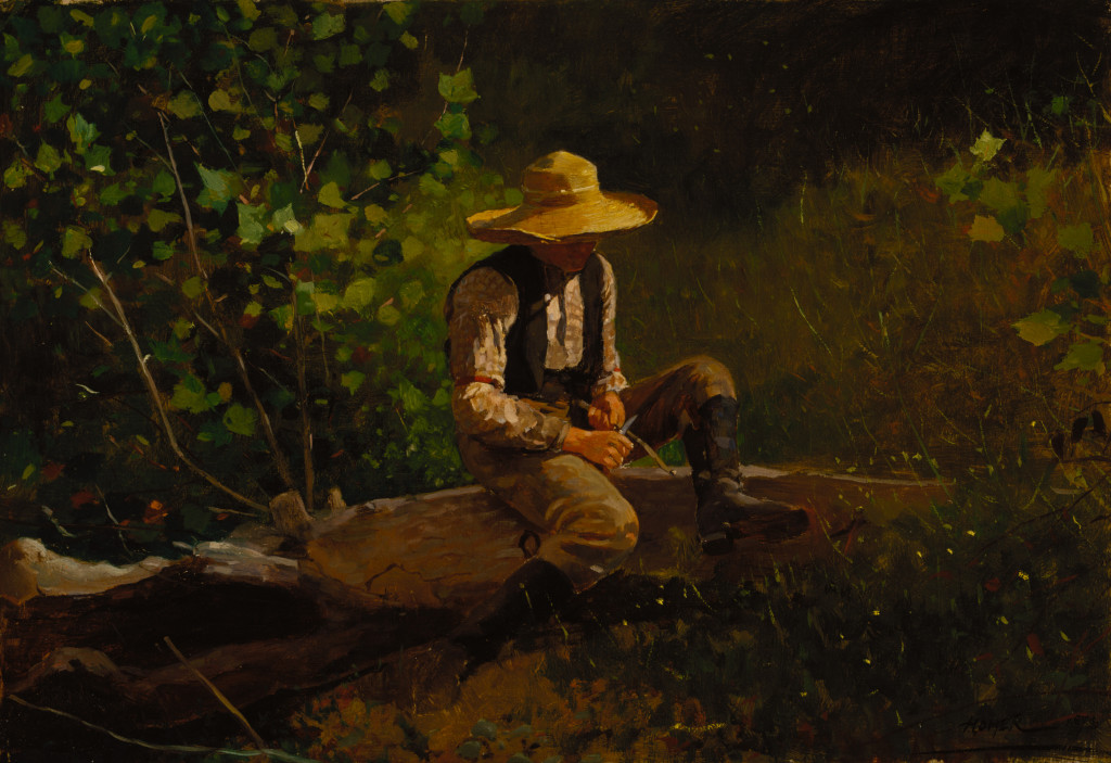 Winslow Homer, The Whittling Boy, 1873, Oil on canvas. Terra Foundation for American Art, Daniel J. Terra Collection, 1994.12