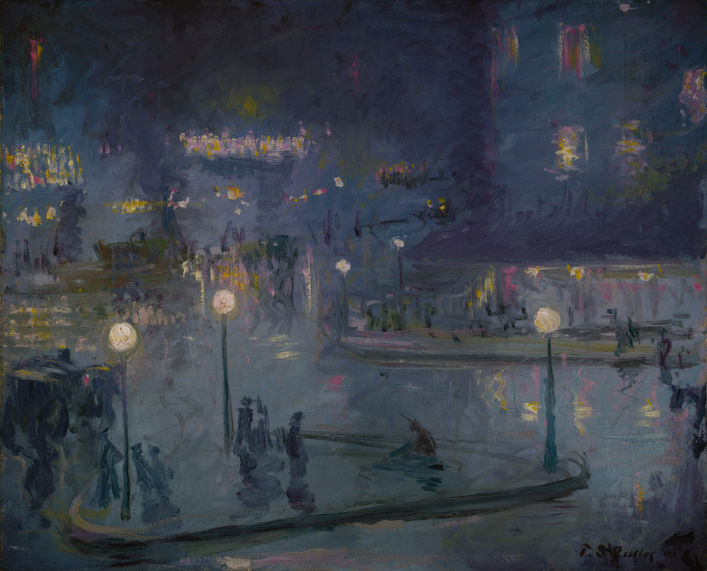Theodore Earl Butler, Place de Rome at Night, 1905, Oil on canvas, 23 1/2 x 28 3/4 in. (59.7 x 73.0 cm), Terra Foundation for American Art, Daniel J. Terra Collection, 1994.16