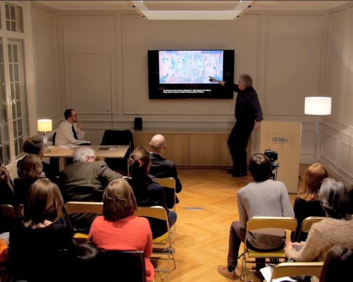 "Jan Van der Stock presents at the dialogue ""In Search of Utopia: The New World in the European Imaginary."""