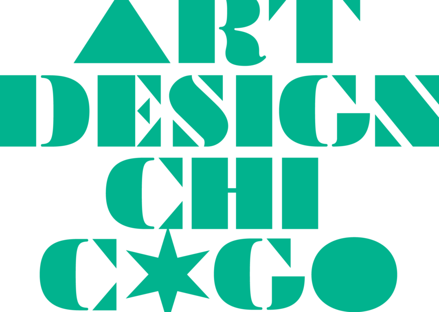 Green logo that says Art Design Chicago.
