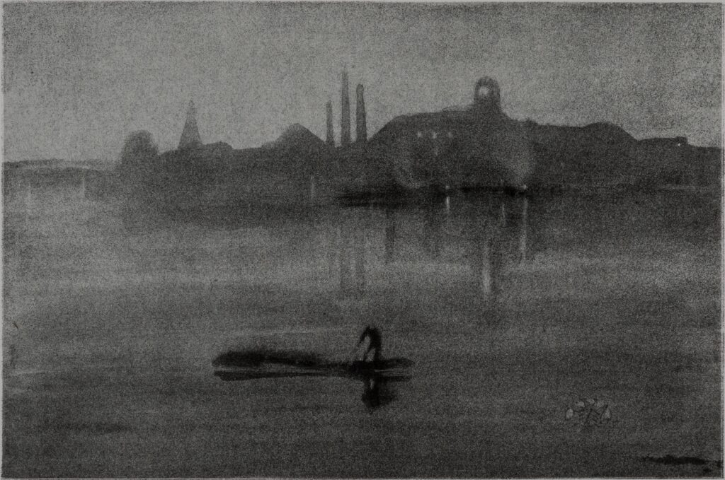 1994.7_James McNeill Whistler, Nocturne (The River at Battersea), 1878.